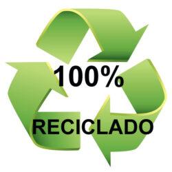 Botellas recicladas 100%